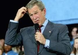 Bush confused